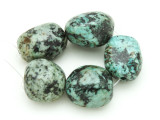"African ""Turquoise"" Oval Nugget Gemstone Beads 17-20mm (GS4324)"