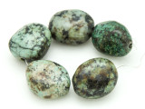 "African ""Turquoise"" Oval Nugget Gemstone Beads 19-21mm (GS4325)"