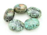 "African ""Turquoise"" Oval Nugget Gemstone Beads 17-20mm (GS4327)"