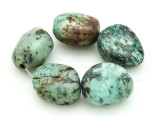"African ""Turquoise"" Oval Nugget Gemstone Beads 19-21mm (GS4328)"