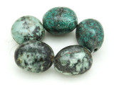 "African ""Turquoise"" Oval Nugget Gemstone Beads 21-22mm (GS4334)"