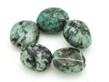 "African ""Turquoise"" Oval Nugget Gemstone Beads 19-21mm (GS4337)"