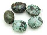 "African ""Turquoise"" Oval Nugget Gemstone Beads 19-21mm (GS4344)"