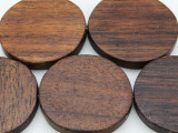 Round Tabular Sono Wood Beads 43-45mm - Indonesia (WD941)