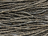 Light Bronze Electroplated Hematite Faceted Round Gemstone Beads 2-3mm (GS4248)