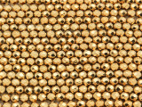 Brass Electroplated Hematite Faceted Round Gemstone Beads 4mm (GS4256)