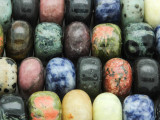 Mixed Rondelle Gemstone Beads 17-20mm (GS4263)