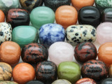 Assorted Round & Barrel Gemstone Beads 13-18mm (GS4267)