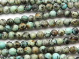 "African ""Turquoise"" Round Gemstone Beads 6mm (GS4268)"