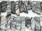 Zebra Jasper Stick Gemstone Beads 25-40mm (GS4272)