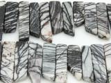 Zebra Jasper Stick Gemstone Beads 25-40mm (GS4272)