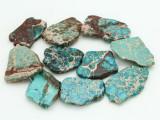 Aqua Terra Jasper Slab Gemstone Beads 31-51mm (GS4303)