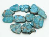 Aqua Terra Jasper Slab Gemstone Beads 36-50mm (GS4304)