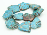 Aqua Terra Jasper Slab Gemstone Beads 36-45mm (GS4305)