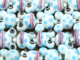 White Frog Lampwork Glass Beads 21mm (LW1587)
