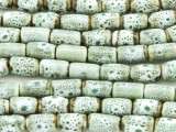 Tube 10-11mm - Glazed Sage Porcelain Beads (PO392)