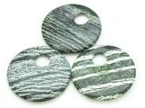 Green Silver Line Jasper Round Gemstone Pendant 50mm (GSP1709)
