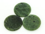 Green Jade Round Gemstone Pendant 46mm (GSP1712)