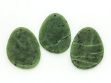 Green Jade Irregular Teardrop Gemstone Pendant 60mm (GSP1714)