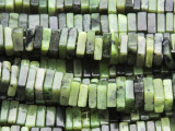 Jade Square Heishi Gemstone Beads 7-8mm (GS4351)