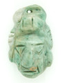 Mayan Carved Jade Amulet 27mm (GJ203)