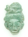 Mayan Carved Jade Amulet 33mm (GJ216)