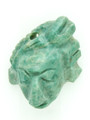 Mayan Carved Jade Amulet 29mm (GJ220)