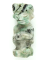 Mayan Carved Jade Amulet 32mm (GJ225)