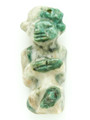 Mayan Carved Jade Amulet 38mm (GJ237)