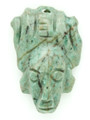 Mayan Carved Jade Amulet 32mm (GJ250)
