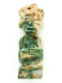 Mayan Carved Jade Amulet 39mm (GJ258)
