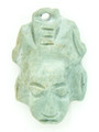 Mayan Carved Jade Amulet 32mm (GJ266)