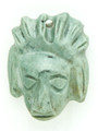 Mayan Carved Jade Amulet 31mm (GJ272)