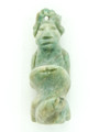 Mayan Carved Jade Amulet 30mm (GJ274)