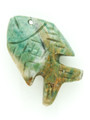 Mayan Carved Jade Amulet 31mm (GJ277)