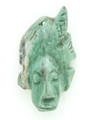 Mayan Carved Jade Amulet 41mm (GJ283)