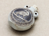 Crow Ceramic Cork Bottle Pendant 45mm (AP1916)