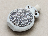 Flower of Life Ceramic Cork Bottle Pendant 45mm (AP1924)