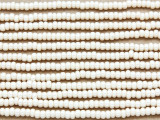 Ivory Cream Glass Seed Beads - 8/0 (SB103)