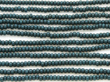 Dark Teal Glass Seed Beads - 8/0 (SB109)