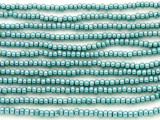Teal Green Metallic Glass Seed Beads - 8/0 (SB112)