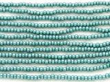 Teal Green Metallic Glass Seed Beads - 8/0 (SB112)