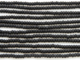 Black Matte Glass Seed Beads - 8/0 (SB113)