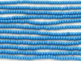 Medium Blue Glass Seed Beads - 8/0 (SB114)