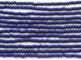Cobalt Blue Glass Seed Beads - 8/0 (SB115)