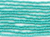Turquoise Glass Seed Beads - 8/0 (SB118)