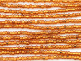 Copper Gold Silver Line Glass Seed Beads - 8/0 (SB120)