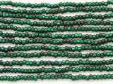 Dark Green Silver Line Glass Seed Beads - 8/0 (SB122)