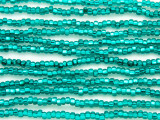 Teal Silver Line Glass Seed Beads - 8/0 (SB126)
