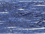 Navy Blue Silver Line Glass Seed Beads - 11/0 (SB137)